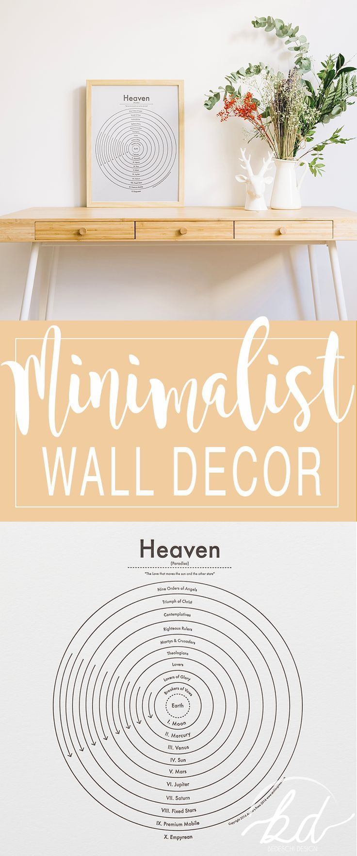Very clean printable for wall decor. Dantes Heaven! Love it ...