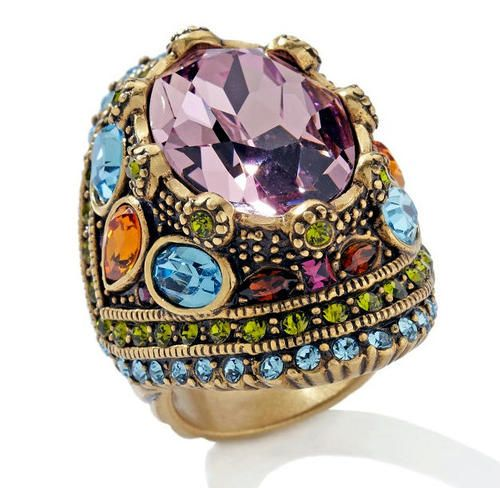 Heidi Daus Feast for Your Eyes Crystal Statement Ring Oversized Domed Ring | eBay