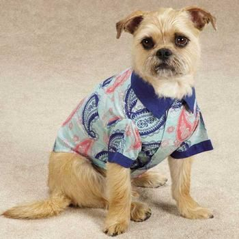 Classic paisley gets a fresh look with bright spring colors in our Zack & Zoey® Fresh Water Paisley Dog Camp Shirt. Each camp shirt has a simple placket front opening and a camp collar for a comfortable, relaxed look and feel. Made of 100% cotton.