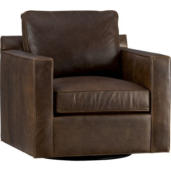 Peachy Davis Leather Swivel Chair Reviews Crate And Barrel Ibusinesslaw Wood Chair Design Ideas Ibusinesslaworg