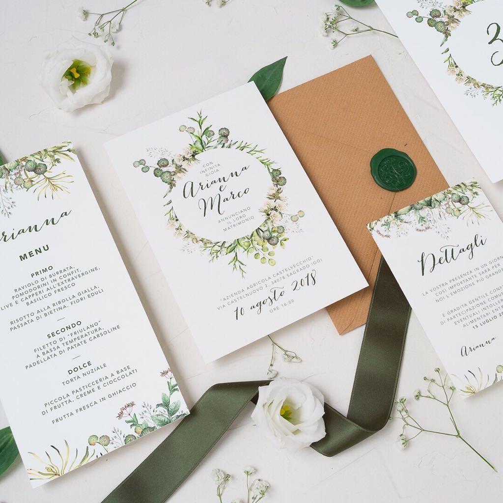 Rustic Wedding Invitation Partecipazione Botanica Inviti Per Matrimonio Inviti Di Nozze Promesse Di Matrimonio