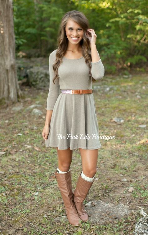 Let Me Tell You About It Dress Taupe | Frühjahr sommer, Stylisch und ...