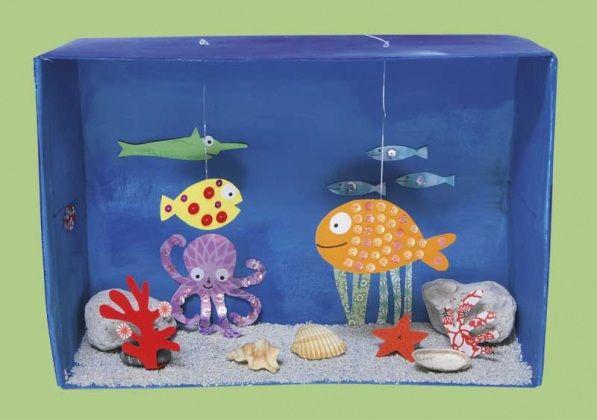 Lavoretto per bambini un acquario tropicale fai da te for Lavoretti fai da te semplici