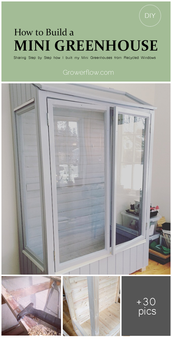 diy how to build a mini greenhouse or grow cabinet from