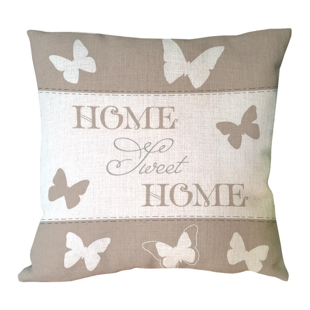 letter sweet home with butterfly printed custom throw