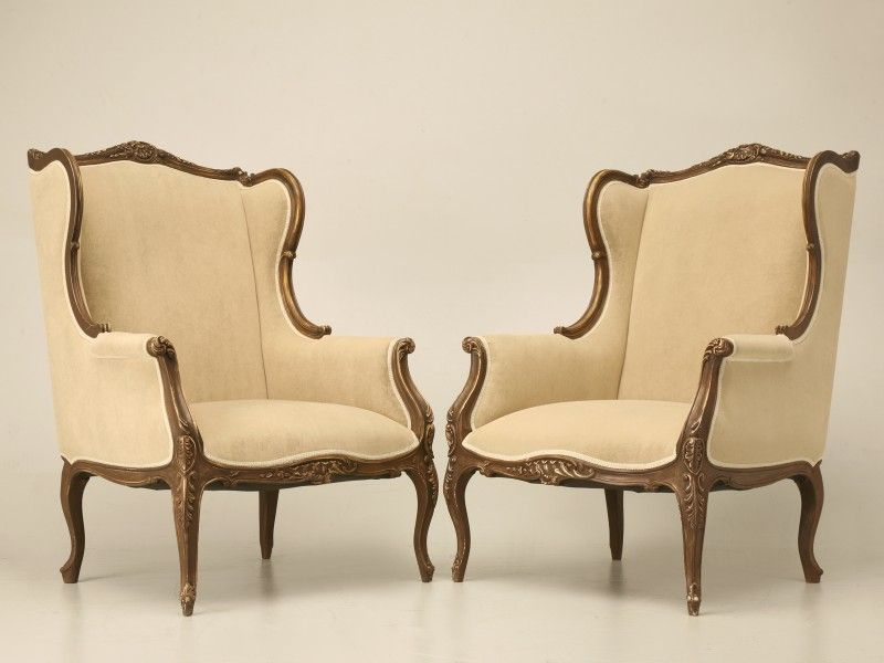 wing back chairs for sale | french louis xv style wing chair for