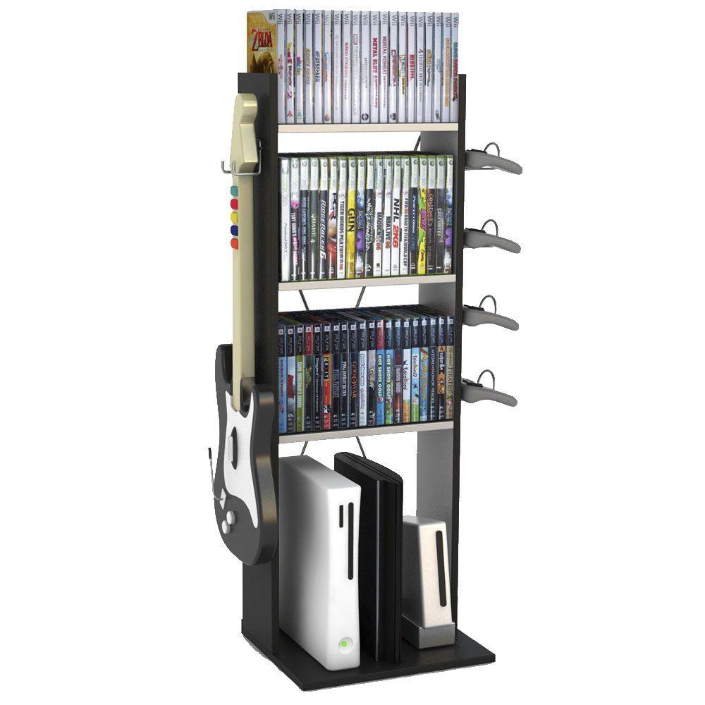 Mueble para consolas y juegos mueblecitos pinterest for Mueble para xbox one