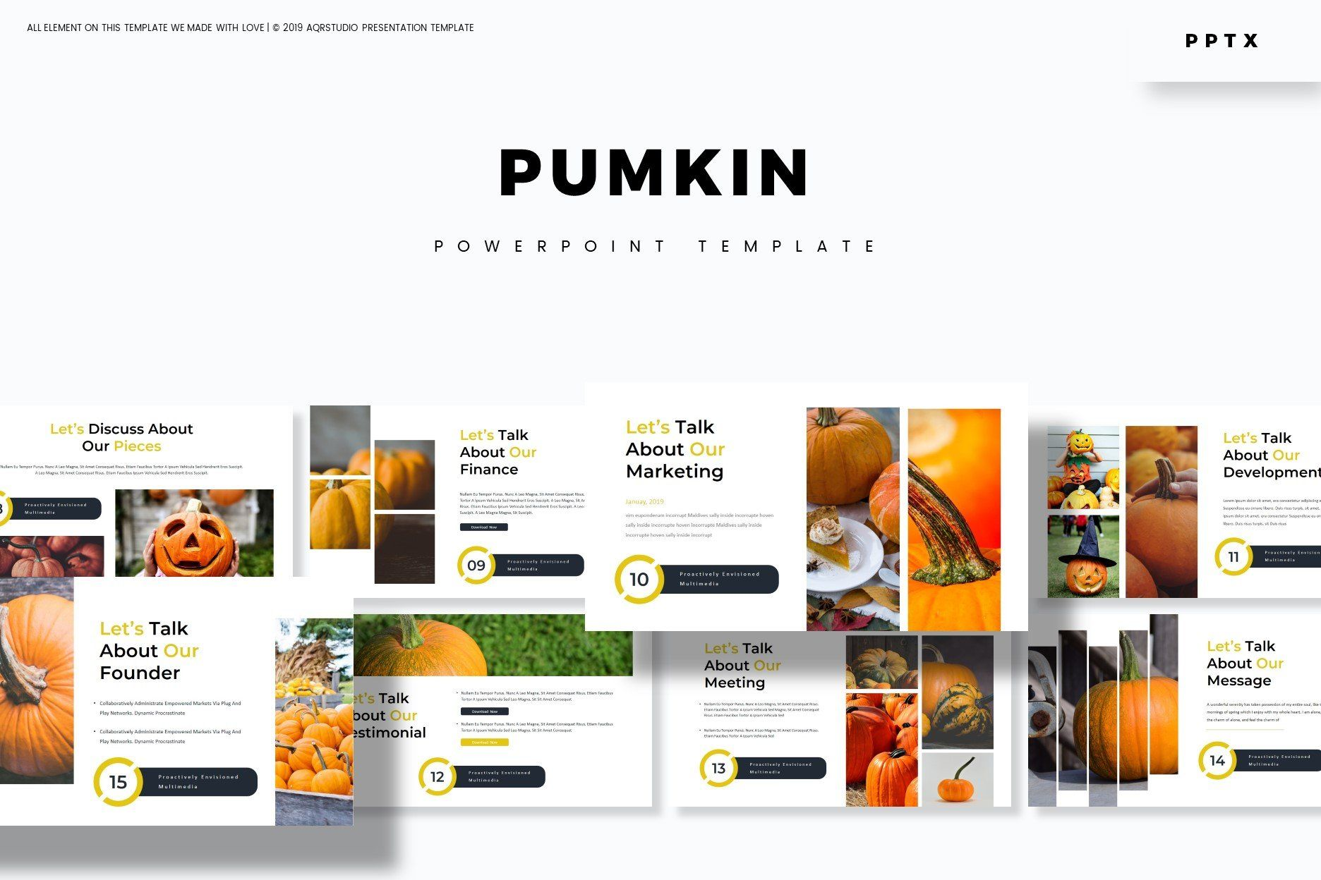 Pumpkin Powerpoint Template By Aqr Studio On