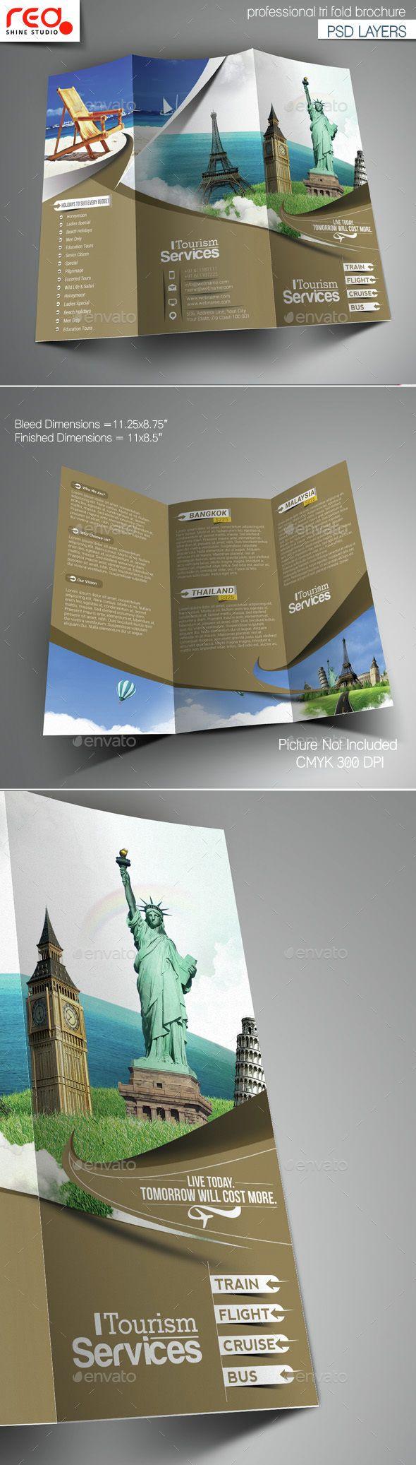 Tourism Service Trifold Brochure Template  Brochure Template