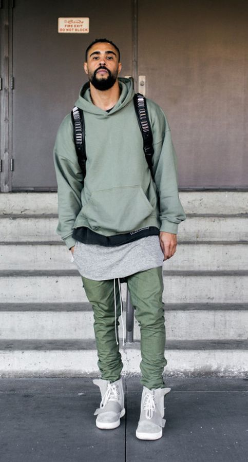 a06633390 HM Fear of God Trousers Joggers Olive Green Black Twill Ankle Zipper Fog  Bottoms