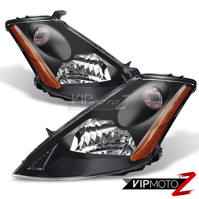 For 2003-2007 Murano Crystal Black JDM Style Front Headlights ...