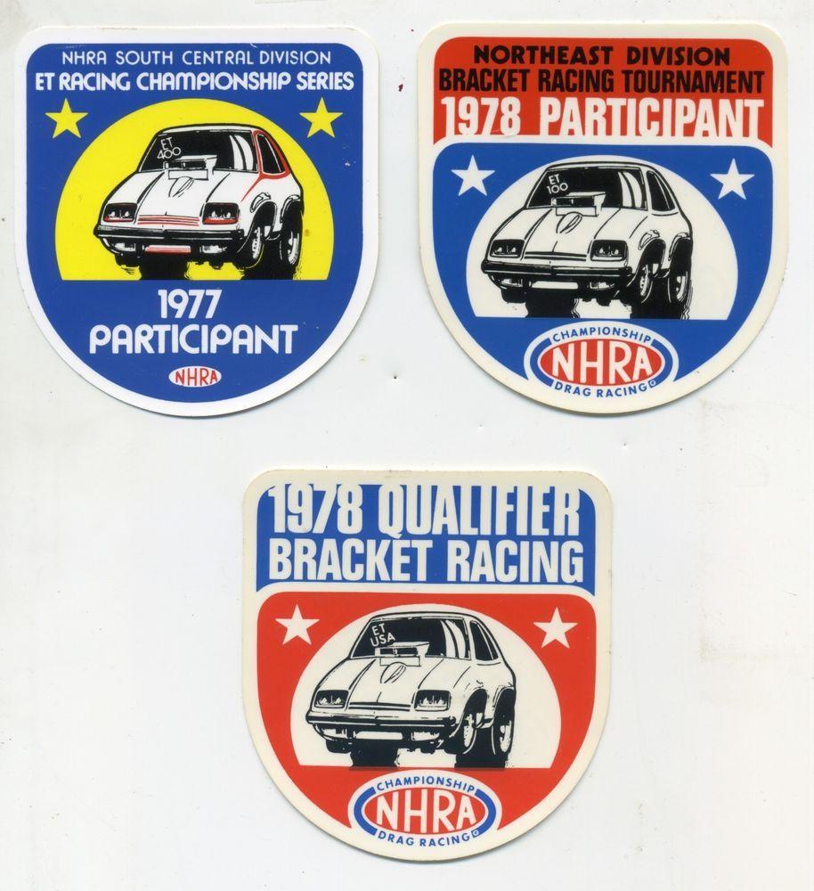 Lot Of 3 Vtg Original Nhra Drag Racing Sticker Decals 70 S Hot Rod Participant Hotrod Decal Dragrace Racing Nhra Drag Racing Racing Stickers Drag Racing [ 1000 x 914 Pixel ]