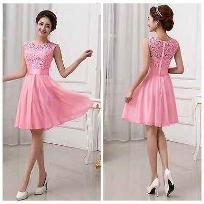 a1aff907e Vestido Rosa Rodado #19 Civil Casamento Renda - R$ 119,95   vestidos ...