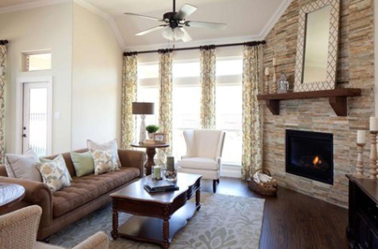 62 Inspiring Corner Fireplace Ideas in The Living Room | Corner ...