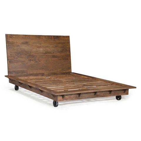 Zuo Modern Contemporary, Inc. Era Oaktown Wooden Bed with Wheels ...