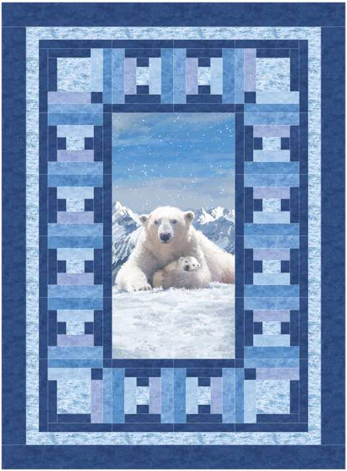 Icebergs Quilt Pattern BS2-443 | Pinterest | Winter quilts, 3d and Rose