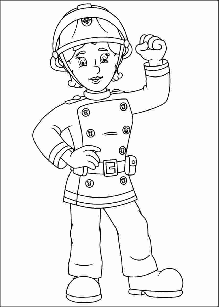 Female Firefighter Coloring Pages In 2020 Coloring Pages Fireman Sam Coloring Books