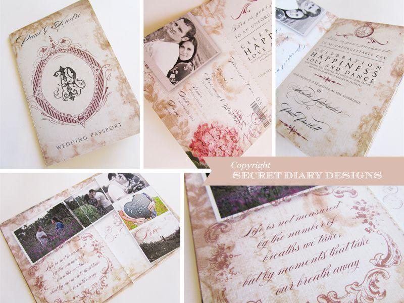 Passports Invitations | Wedding Invitations | Wedding Stationery ...