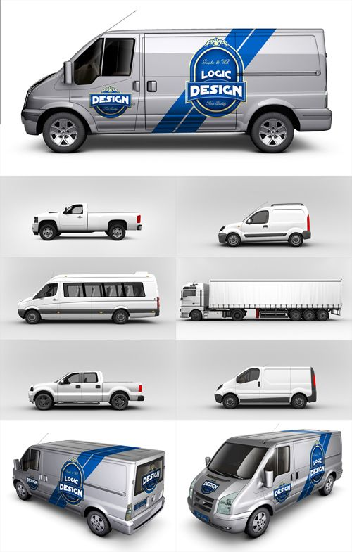 Van cars mockup templates free special gfx posts vectors aep projects psd web templates mock for Free vehicle templates vector