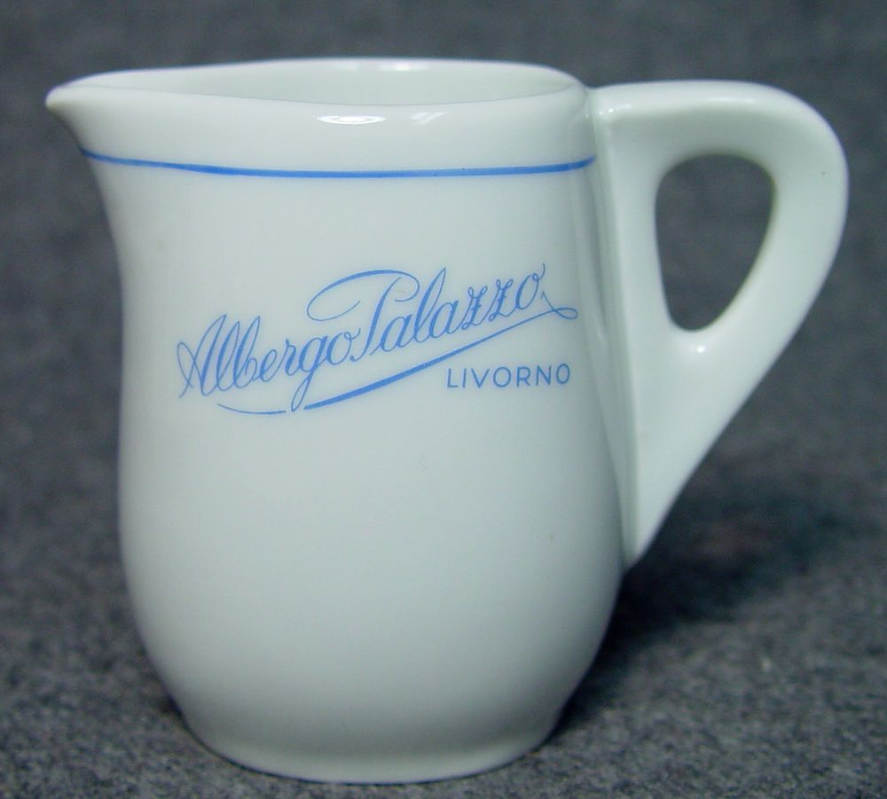 Albergo Palazzo Livorno Hotel Restaurant Club Advertising China Creamer Italy