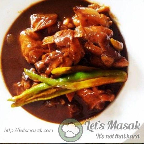 Ayam Kashmir Hitam Recipe By Iceboxrivet Letsmasak Com Resep Resep Makanan Tumis