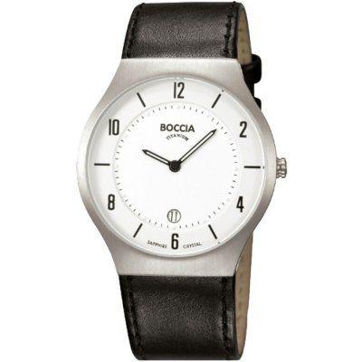 Boccia - Mens Black Leather White Dial Titanium Watch - B3559-01 RRP £  sc 1 st  Pinterest & Boccia - Mens Black Leather White Dial Titanium Watch - B3559-01 RRP ...