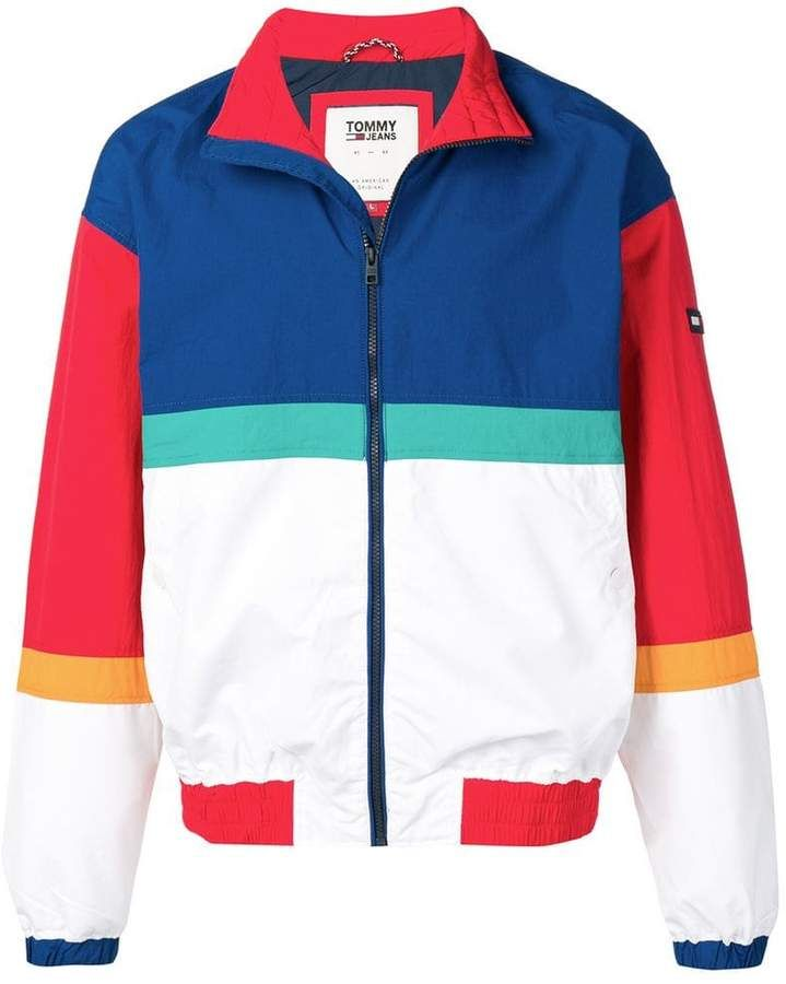 baf3c51b2 Tommy Jeans colour block jacket in 2019 | Products | Colored jeans ...