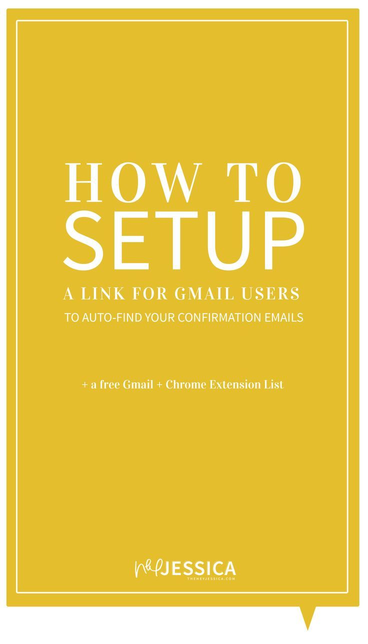 How to setup a link for gmail users to autofind your