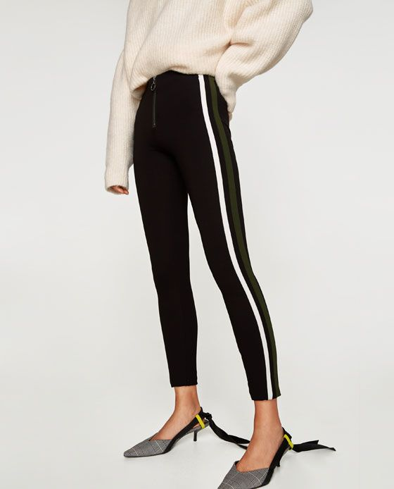 14fe45e4 Image 2 of LEGGINGS WITH DOUBLE SIDE STRIPE from Zara | Outfits ...