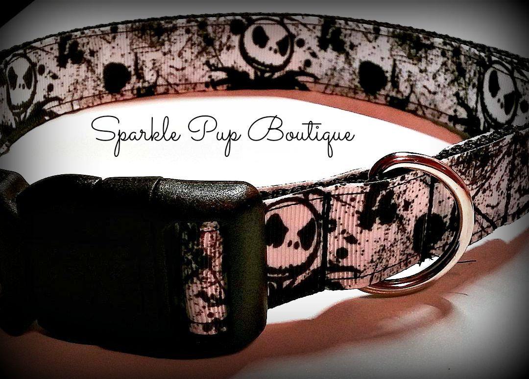 Jack Skellington Inspired Dog Collar/ Nightmare Before
