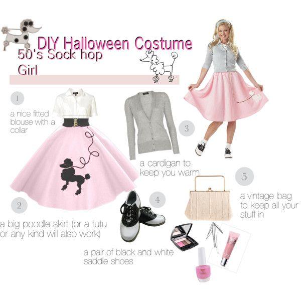 diy halloween costume 50s sock hop girl