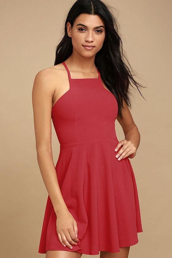 719ec40e41 Lulus - Lulus Call to Charms Red Skater Dress - AdoreWe.com