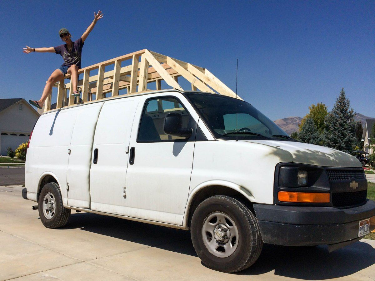 Building the extended roof for the van phase one simply mountain people