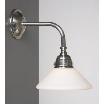 Victorian Or Edwardian Period Bathroom Wall Light Satin Nickel Finish
