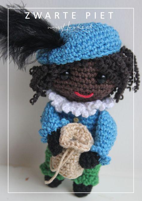 Gratis Haakpatroon Zwarte Piet Pinterest Gratis Haakpatroon