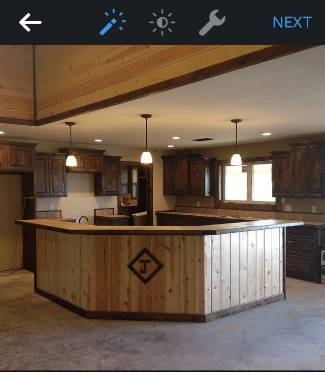 Knotted Oak Kitchen Cabinets: Knotty Alder Cabinets Stained With Jacobbean.