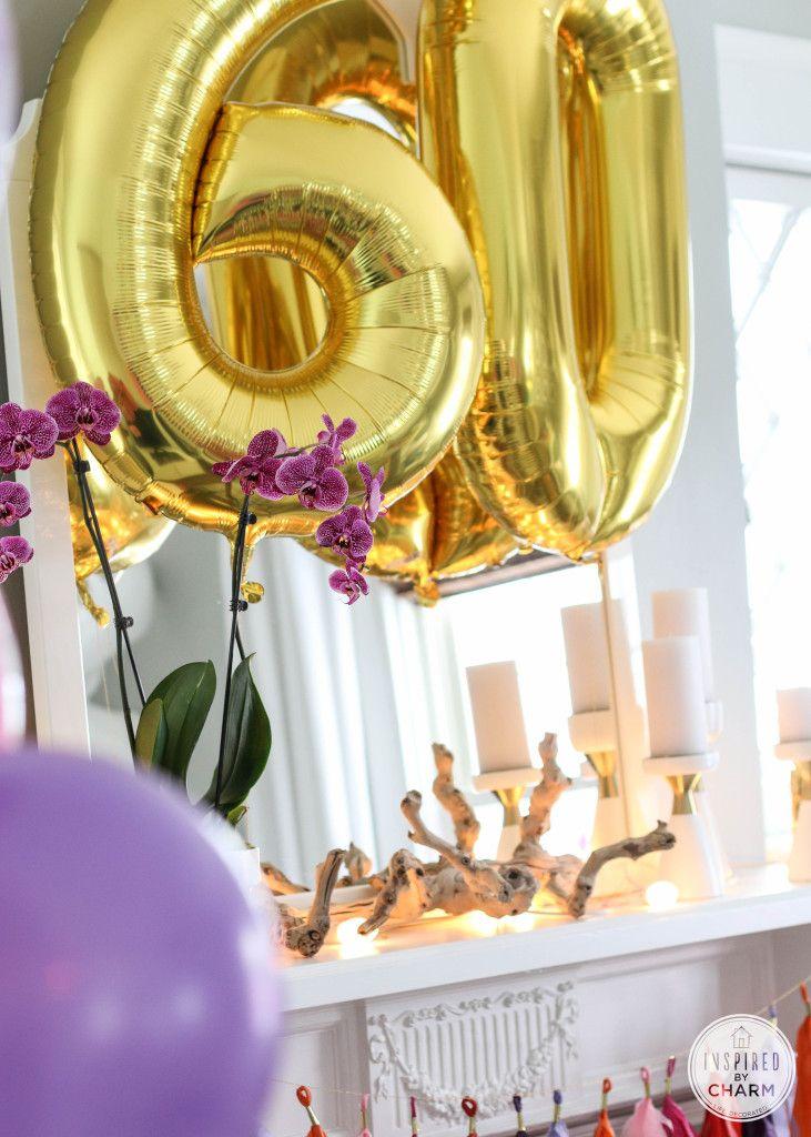 60th birthday celebration inspired by charm 60th