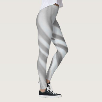 7157ff11b3f09 Gray Light Blue Airbrush Stripes - Leggings - chic design idea diy elegant  beautiful stylish modern exclusive trendy