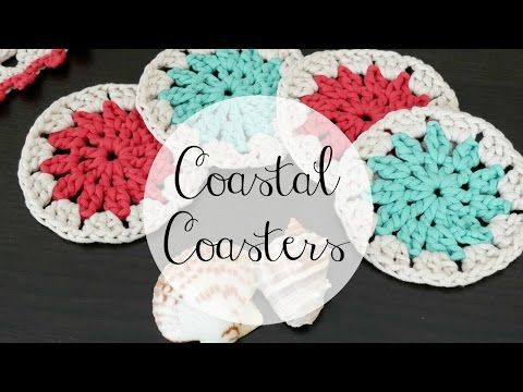 How To Crochet The Coastal Placemat Episode 327 Youtube Crochet Coasters Diy Crochet And Knitting Crochet Granny Square Tutorial