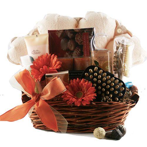 Make Yourself Gift Basket Ideas: Oasis For Her Spa Gift Basket