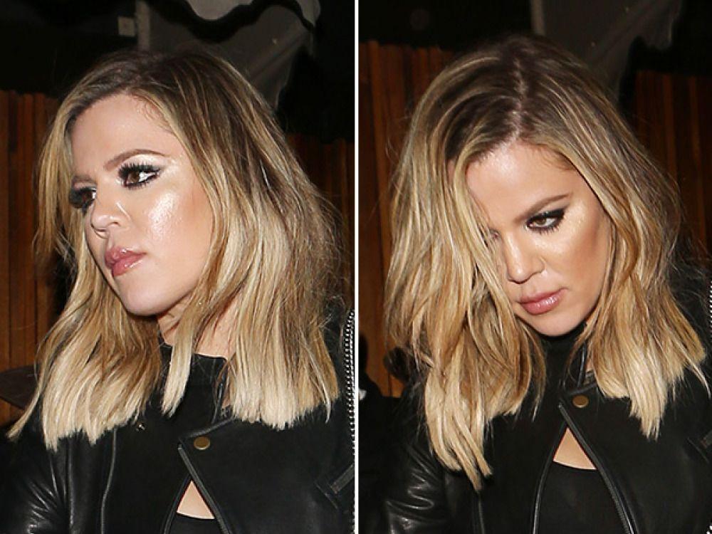 Khloe Kardashian Hair Style: Khloe Kardashian Shows Off New Lob At Kendall's Party