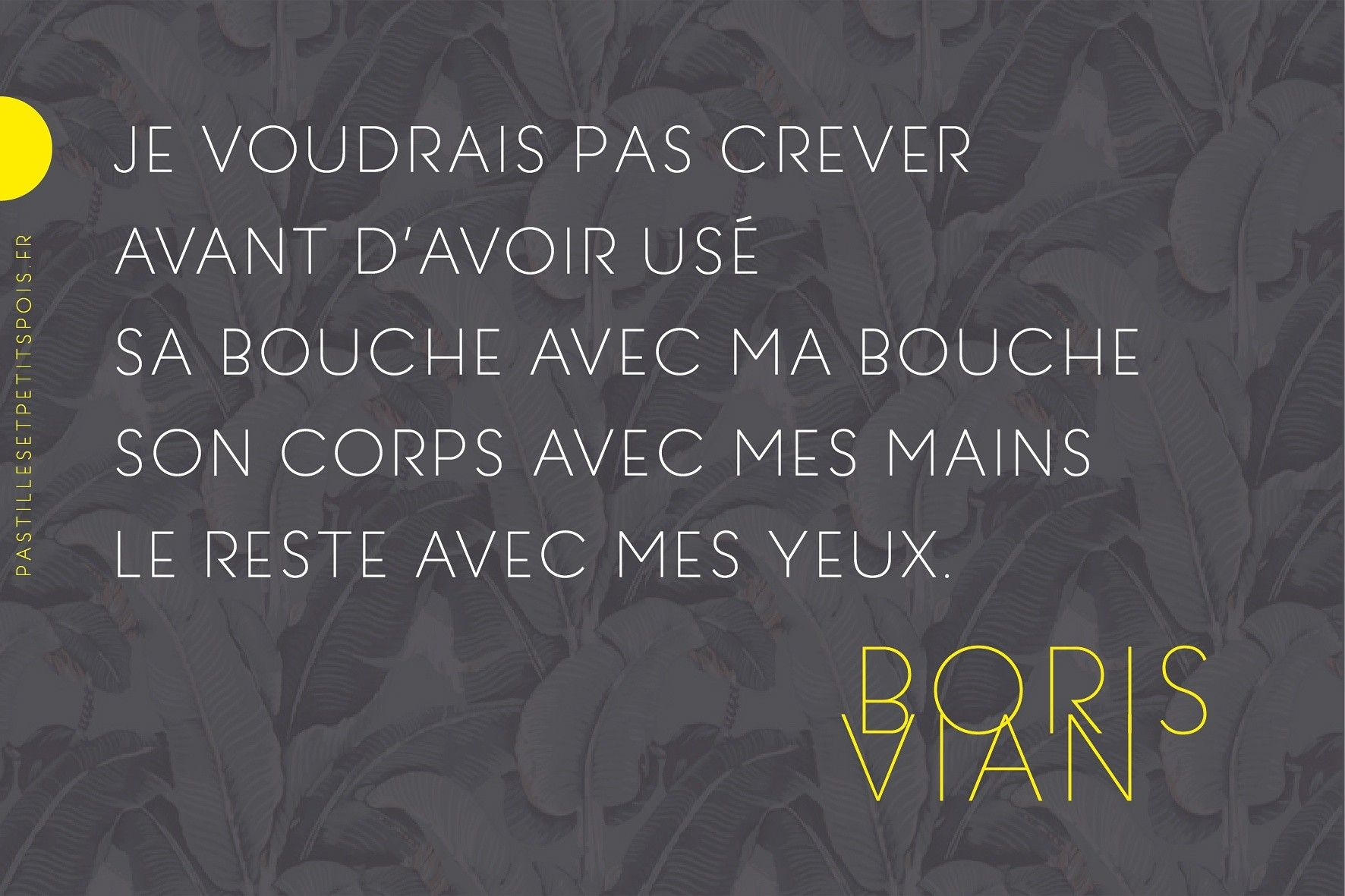 Citation Boris Vian Amour Gedichte Poetry Art Quotes