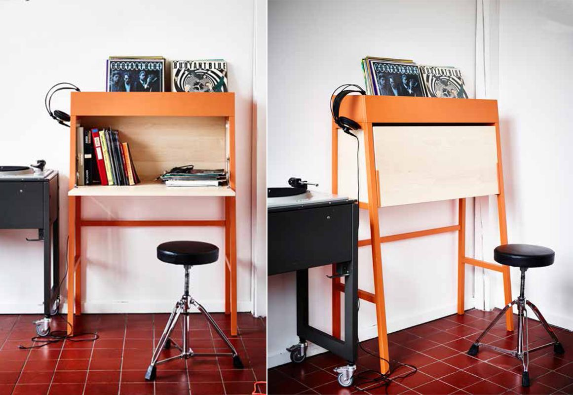 The ikea ps 2014 bureau gives you extra storage and a workstation in