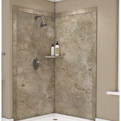 "FlexStone Splendor 80"" x 40"" x 40"" Two Panel Shower Wall"