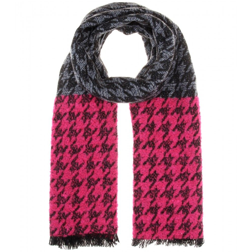 mytheresa.com - Terrence Houndstooth wool-blend scarf - scarves - Accessories - Sale - Luxury Fashion for Women / Designer clothing, shoes, bags