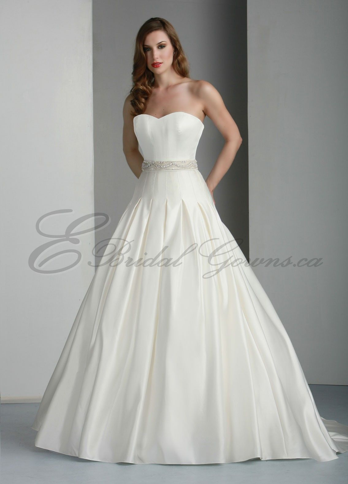 satin strapless sweetheart ball gown wedding dress canada wedding dresses shop