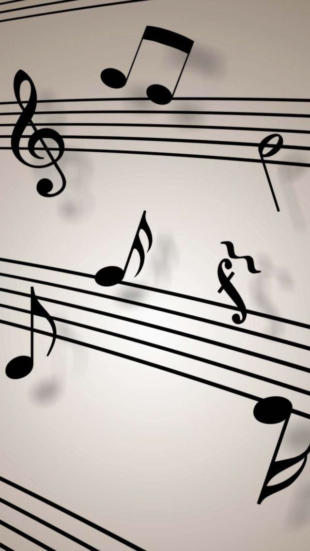 Black Musical Notes Wallpaper