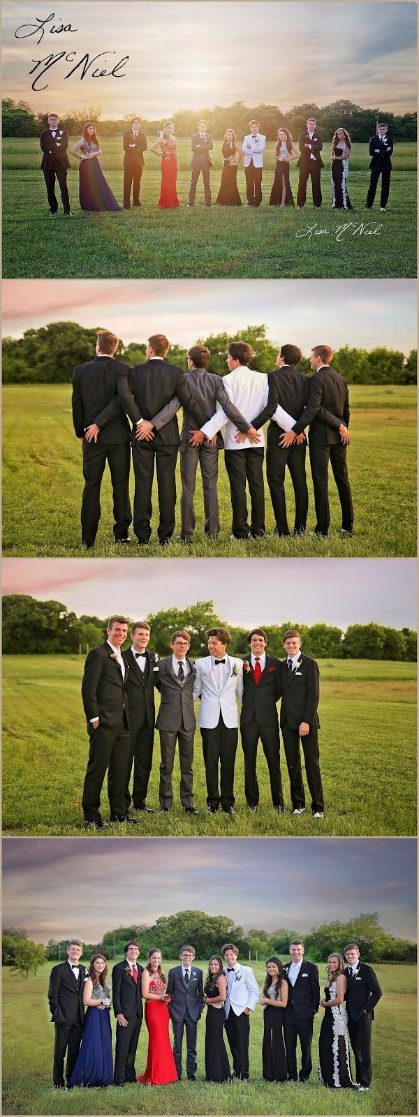 Group pictures for prom - ideas from Texas photographer Lisa McNiel #promphotographyposes