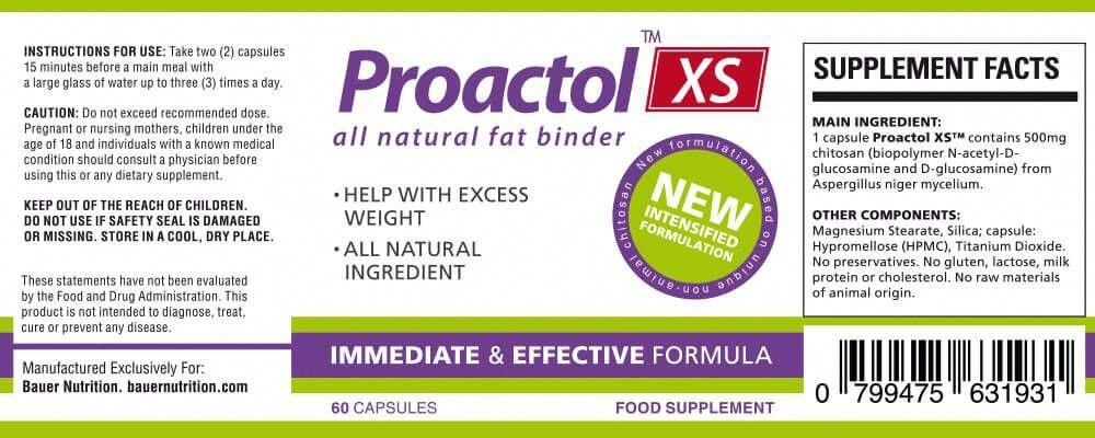 6a497b082 Buy Proactol XS from the official Bauer Nutrition store, high ...