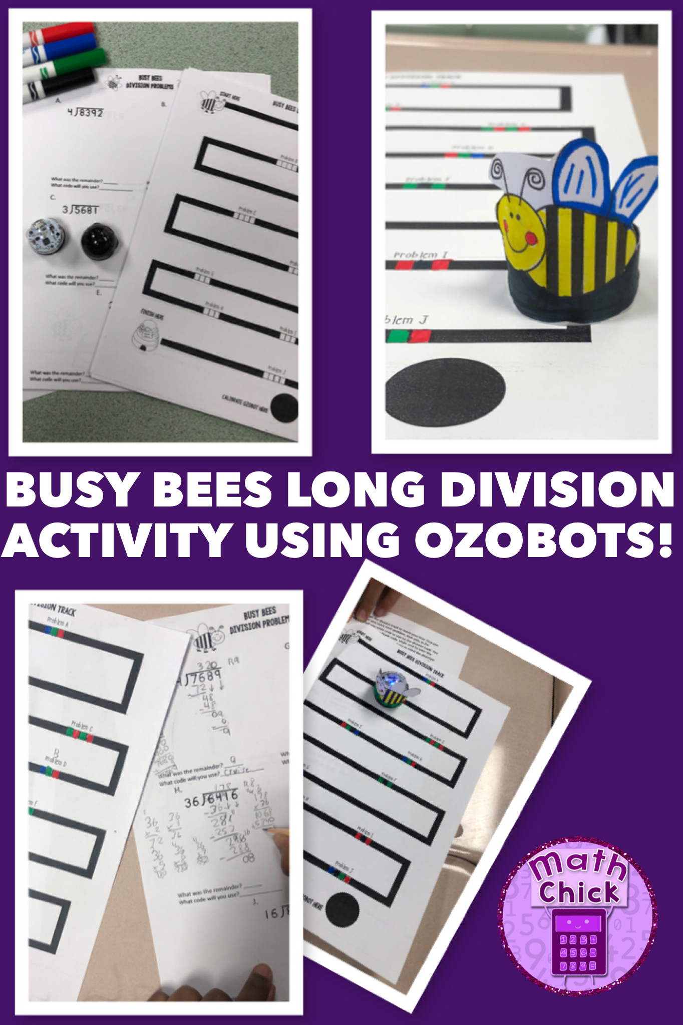 Busy Bees Long Division With Ozobots 1 Amp 2 Digit Divisors